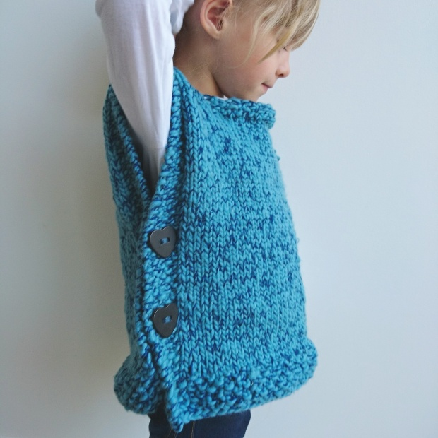 Tricot facile enfant minuscules - Explication pour tricoter un poncho femme ...